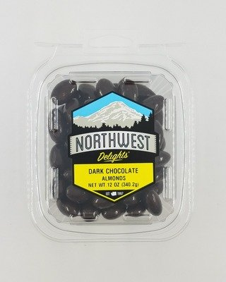 Dark Chocolate Almonds, 6/12 oz Case