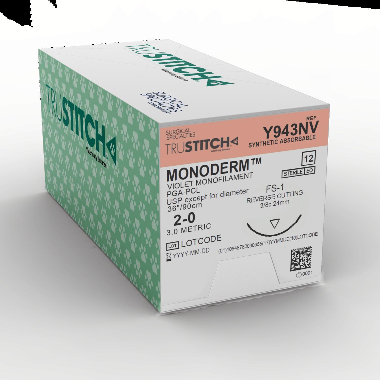 """Monoderm 2-0 1x36"""" FS-1"""