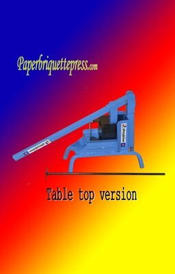 Paper Briquette Press (Table Top version)