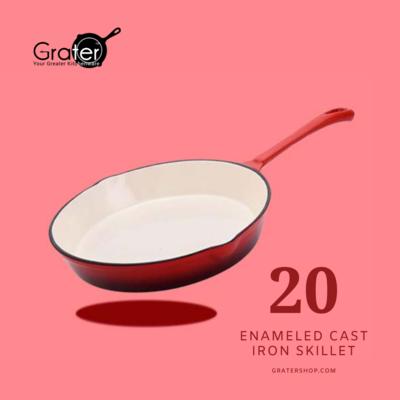20cm / 8-in Enameled Cast Iron Skillet Frying Pan
