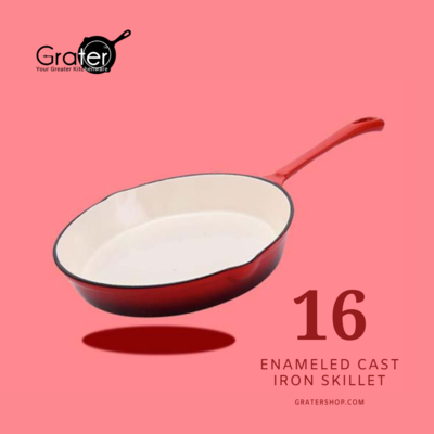 16cm / 6.25-in Enameled Cast Iron Skillet Frying Pan