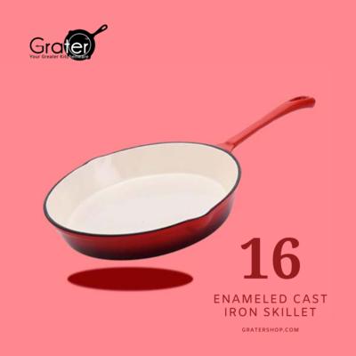16cm / 6.25-in Enameled Cast Iron Skillet Frying Pan