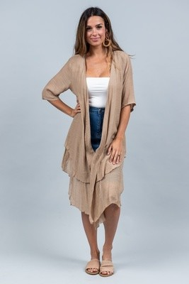 Sandy Beach Summer Cardi - Mocha