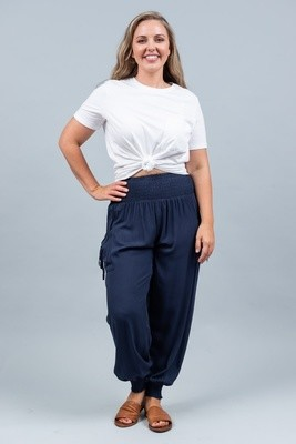 Harem Pants - Navy