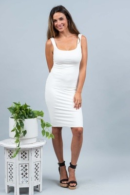 Love U Basics Scoop Neck Dress - Ivory