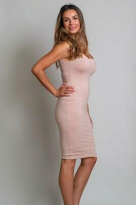 Love U Basics Scoop Neck Dress - Latte