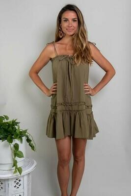 So So Cute Mini Dress - Khaki