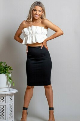 Love U Basics Midi Skirt - Black