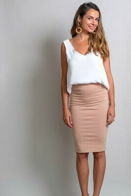 Love U Basics Midi Skirt - Latte