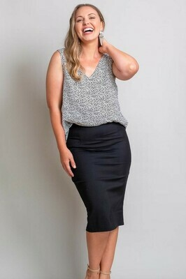 Love U Basics Pencil Skirt - Black