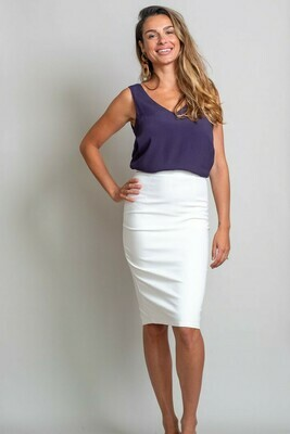 Love U Basics Pencil Skirt - Ivory