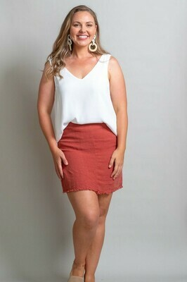 Vivian Fray Skirt - Rust