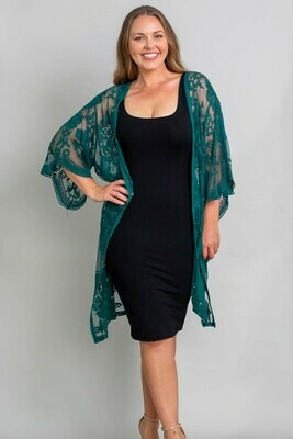 Summer Loving Lace Cape - Emerald