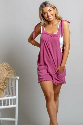 Byron Fray Playsuit - Rose