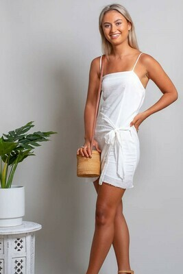 Shell Dress - White