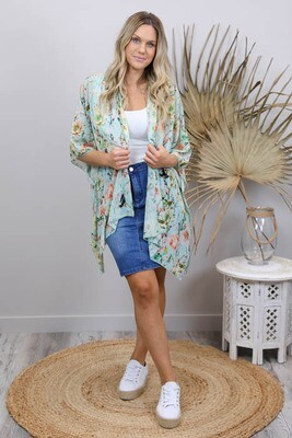 Bonsai Summer Cardi - Mint Green