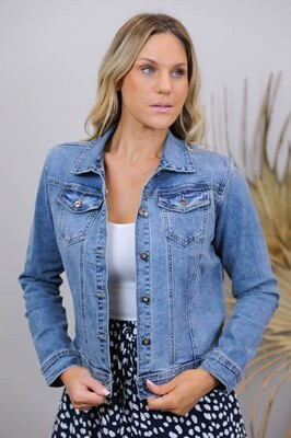 Beachcomber Denim Jacket - Mid Denim