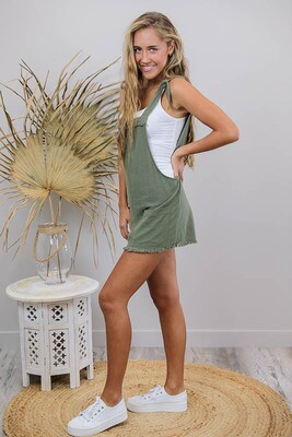 Byron Fray Playsuit - Khaki
