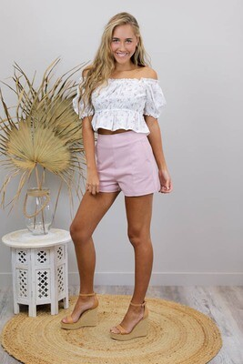 Love U Basics Shorts - Dusty Pink