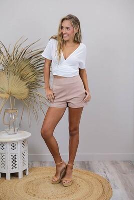Love U Basics Shorts - Latte