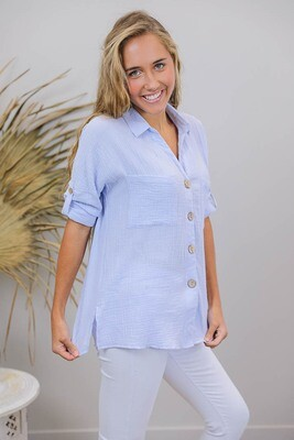 Absolutely Fabulous Cotton Shirt - Lilac
