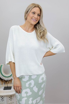 Mishka Knit Top - Ivory