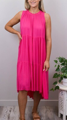 Bon Bon Maxi Dress - Fushia