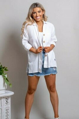 Absolutely Fabulous Cotton Shirt - White
