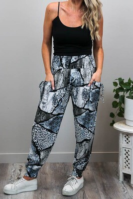 Harem Pants - Gray Wild