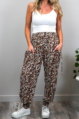 Harem Pants - White/Leo