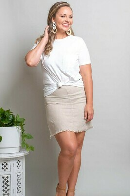 Vivian Fray Skirt - Natural