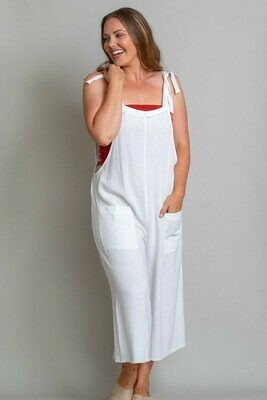 Byron Fray Jumpsuit - White