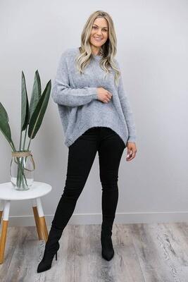 Jenna Oversized Jumper - Marle Gray