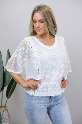 Another Chantilly Lace Top - White