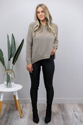 Jenna Oversized Jumper - Dark Mocha