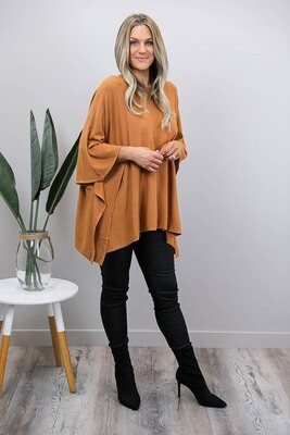 Pash Poncho - Light Tan