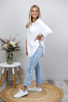 My Boo Fringe Side Jeans - Light Denim