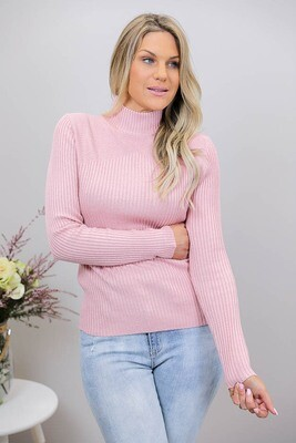 Back To Basics Rib Jumper - Blush