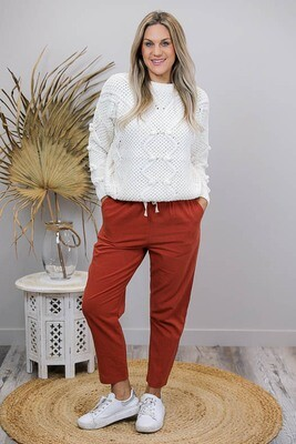Cheska Chenille Jumper - Cream