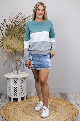 Logan Jumper - Jade/Ivory/Gray
