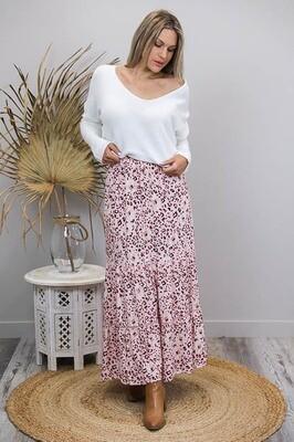 Gypsy Rose BoHo Maxi Skirt - Blush/Leo Bloom