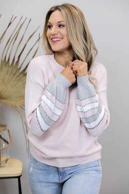 Pink Panther Jumper - Blush Multi