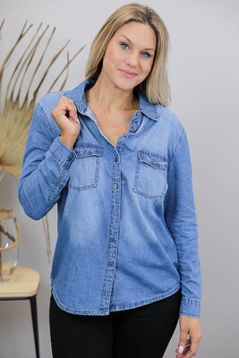 Rodeo Chambray Shirt - Mid Denim