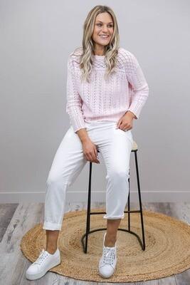 Lavish Detail Knit Jumper/Top - Baby Pink