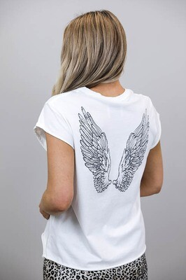 Jeepers Vintage Tee Shirt - White/Wings