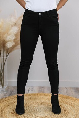 Cronulla Basic High Waisted Jean - Black