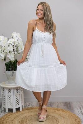 Beach Magic Singlet Midi Dress - White