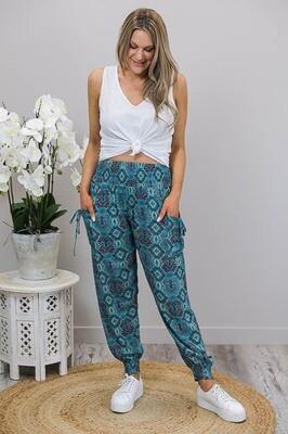 Harem Pants - Jade Paisley