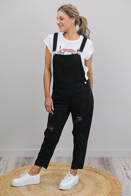 Sundance Denim Overalls - Black