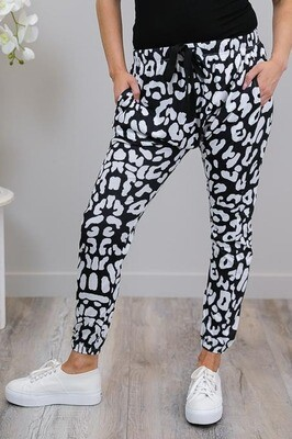 Dezzy Drop Pants - Black/White Large Leo